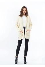 Look By M Everyday Ivory Cardigan