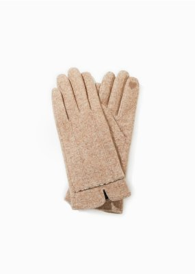 Look By M Classic Tan Trim Heather Gloves