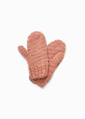 Look By M Basic Mango Indi Peach Yarn Gloves