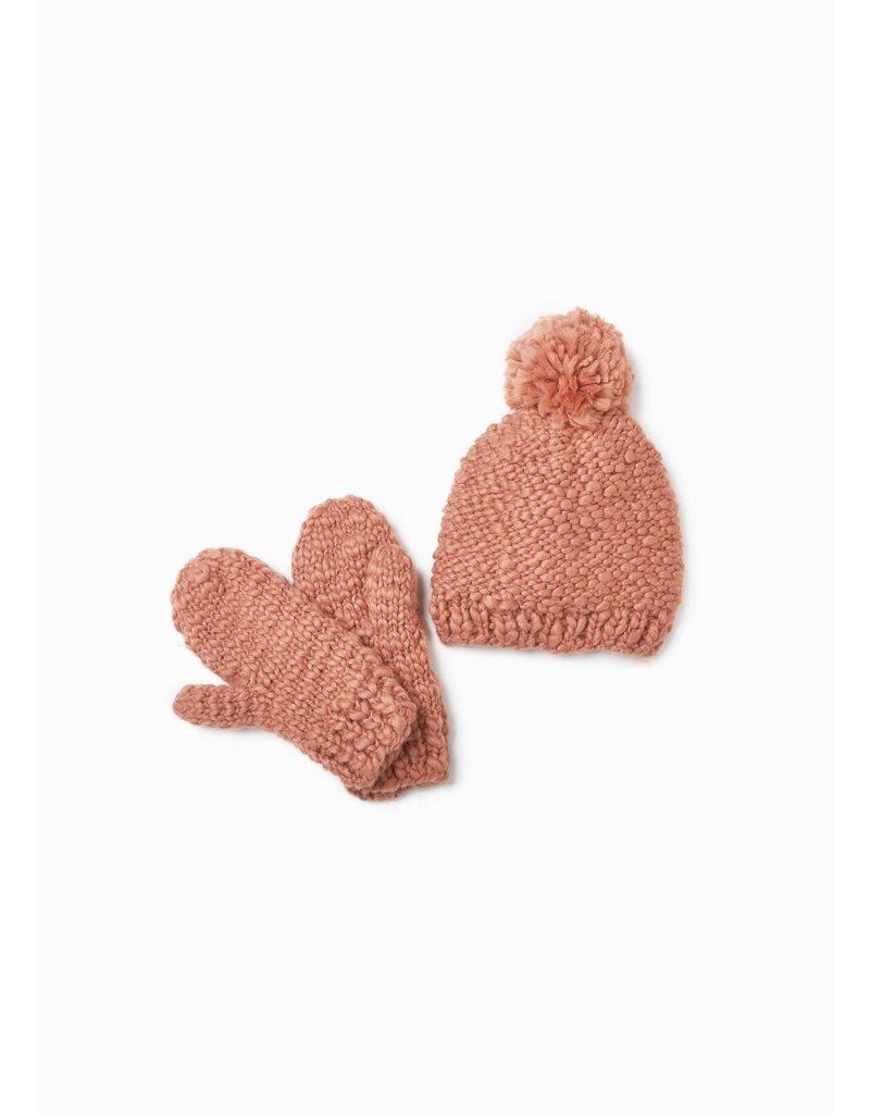 Look By M Basic Mango Indi Peach Yarn Gloves
