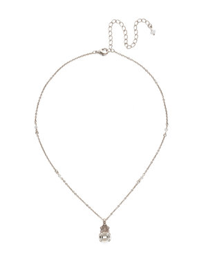 Sorrelli Crowning Glory Pendant Necklace in Soft Petal
