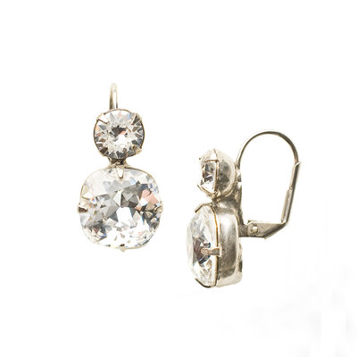 Sorrelli Antique Silver On the Edge Earring in Clear Crystal