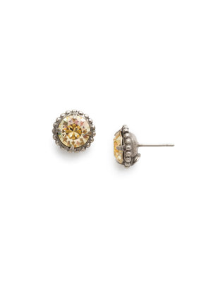 Sorrelli Simplicity Stud Earring in Crystal Champagne
