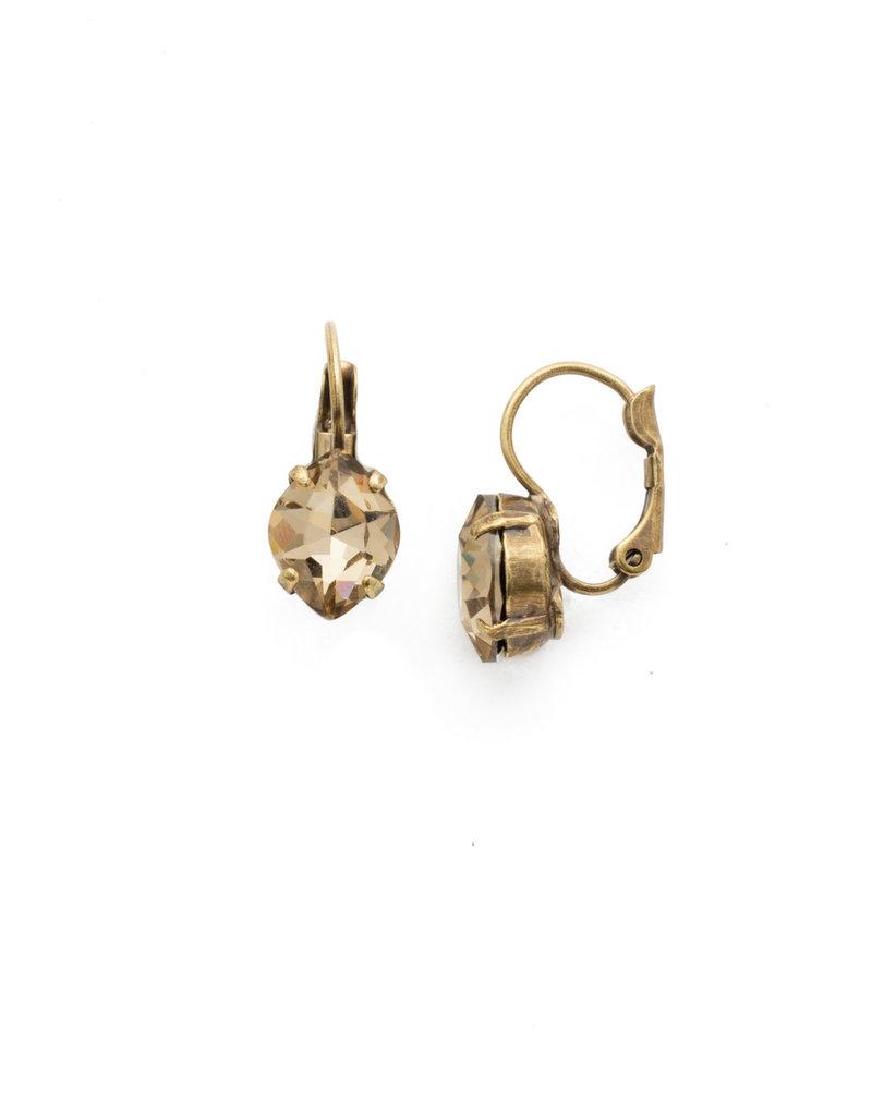 Sorrelli Crystal Crysathemum Earrings in Neutral Territory