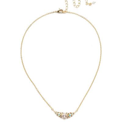 Sorrelli Aralia Delicate Pendant Necklace in Silky Clouds