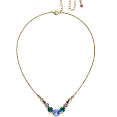 Sorrelli Delicate Round Crystal Necklace in Wildflower