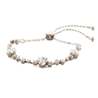 Sorrelli Sedge Slider Bracelet in Clear Crystal