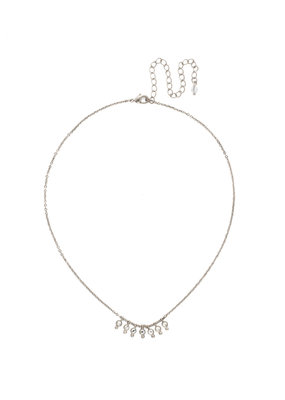 Sorrelli Delicate Dots Necklace in Clear Crystal