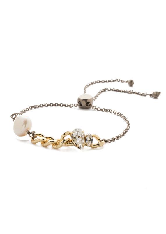 Sorrelli Classic Slider Bracelet in Mixed Modern Pearl