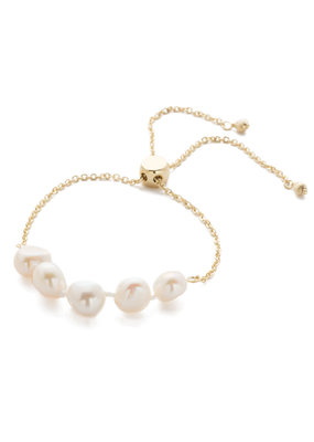 Sorrelli Bright Gold Classic Slider Bracelet in Modern Pearl