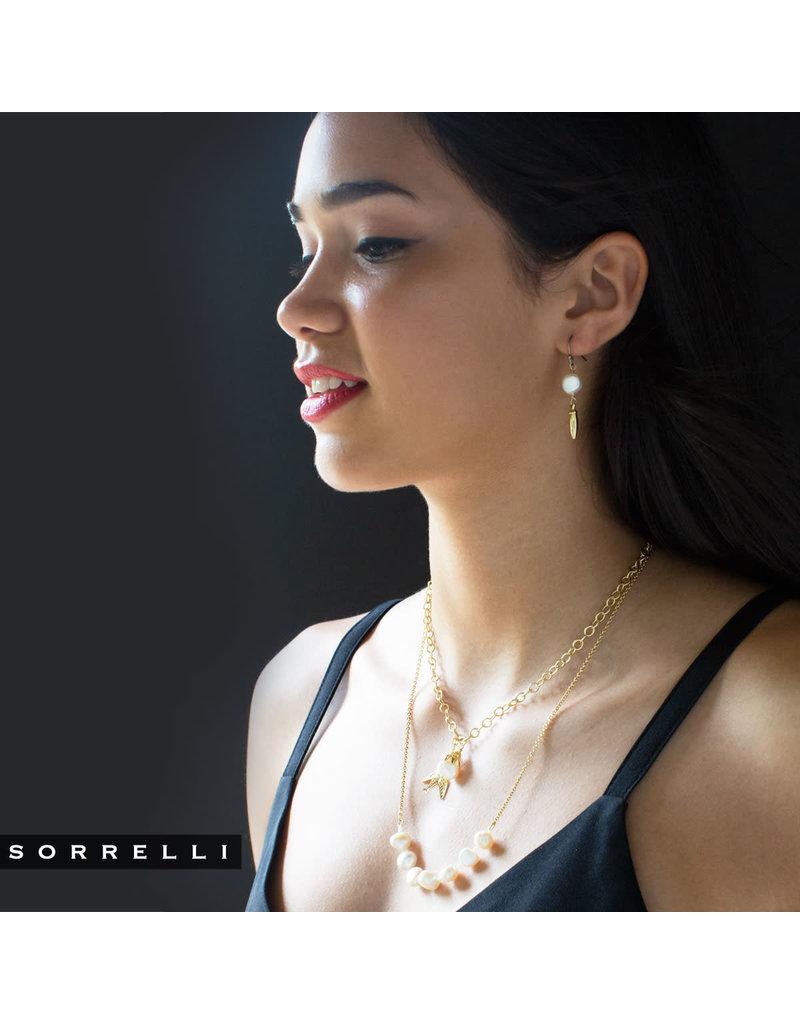 Sorrelli Mixed Metal Modern Pearl French Wire Earring