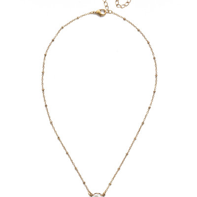 Sorrelli Antique Gold Isabella Pendant in Modern Pearl