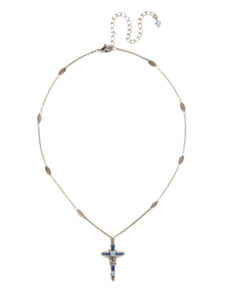 Sorrelli Pastel Prep Delicate Sliding Cross Pendant Necklace