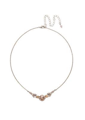 Sorrelli Decidedly Deco Pendant Necklace in Satin Blush