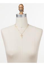 Sorrelli Delicate Sliding Cross Pendant Necklace in Silky Clouds