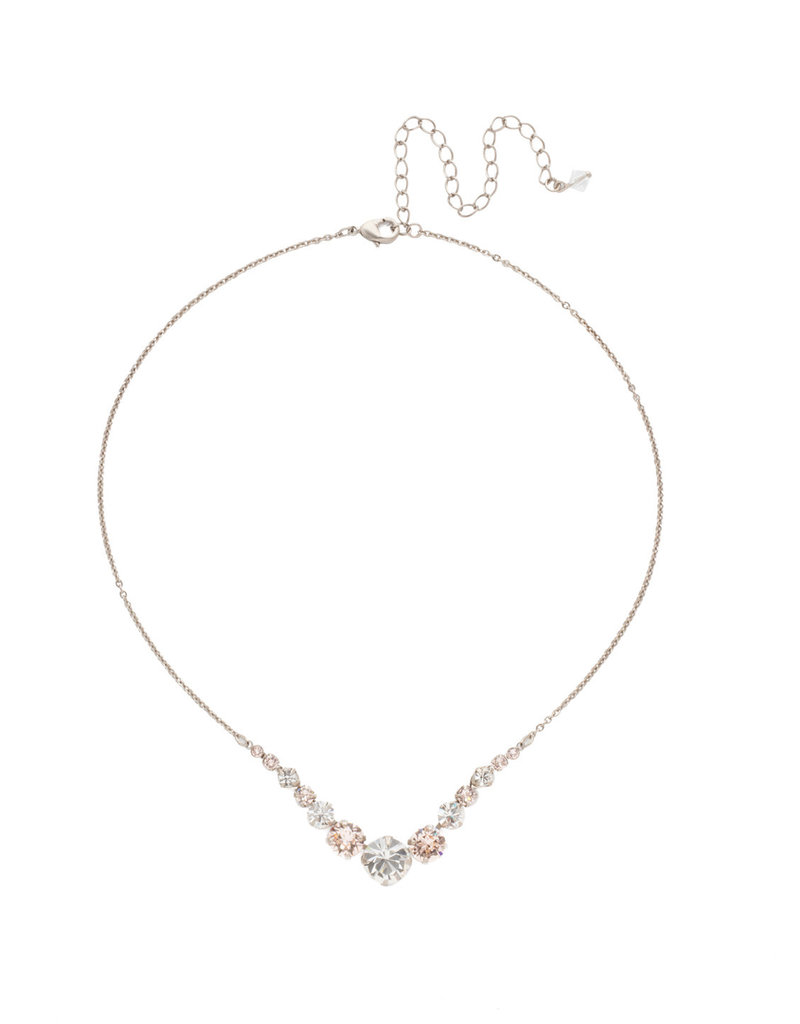 Sorrelli Delicate Round Crystal Necklace in Soft Petal
