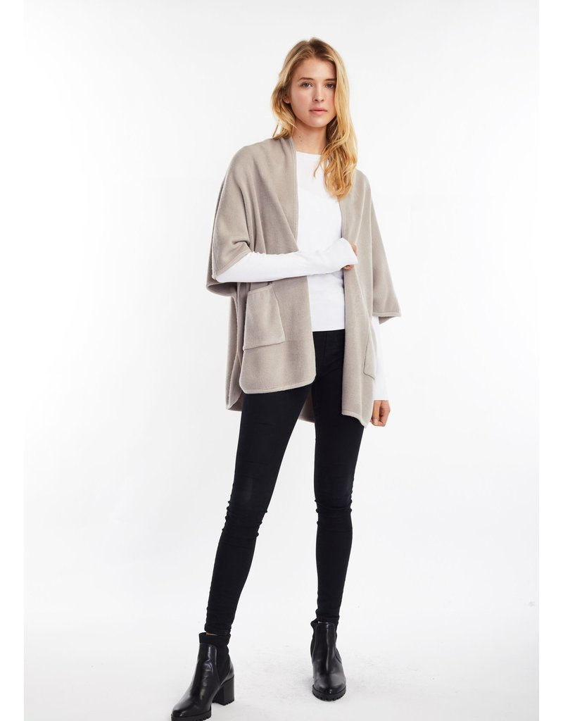 Look By M Basic Grey Cape Poncho