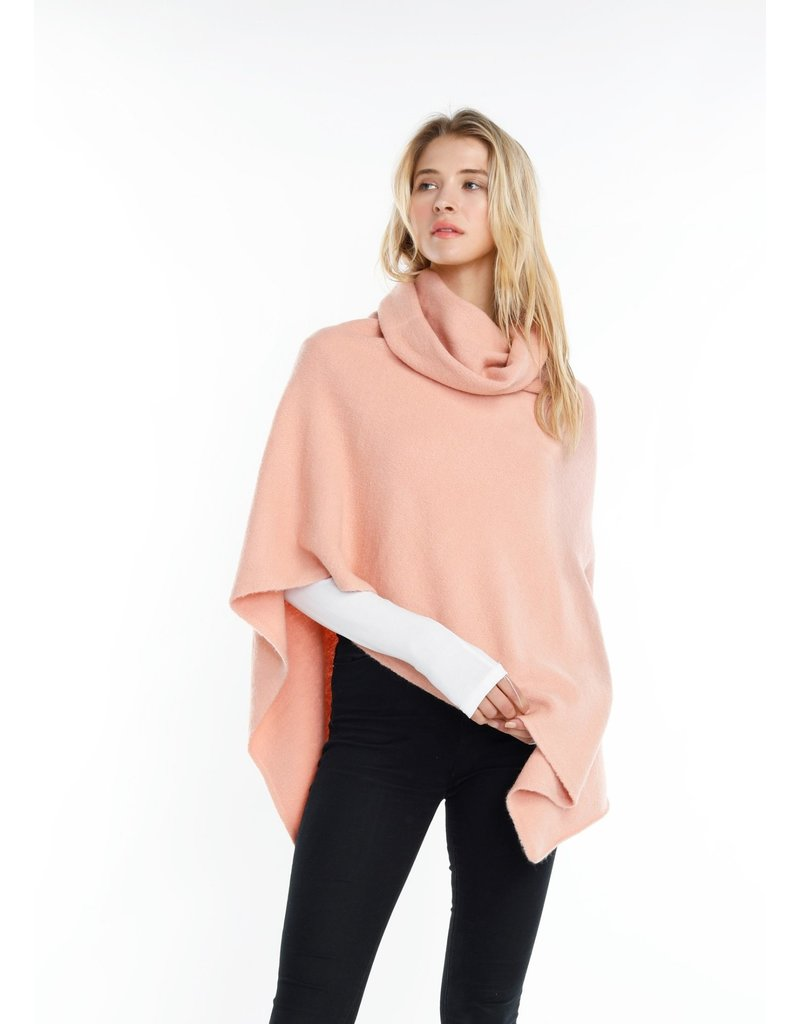 Look By M Blush Turtleneck Wrap Poncho