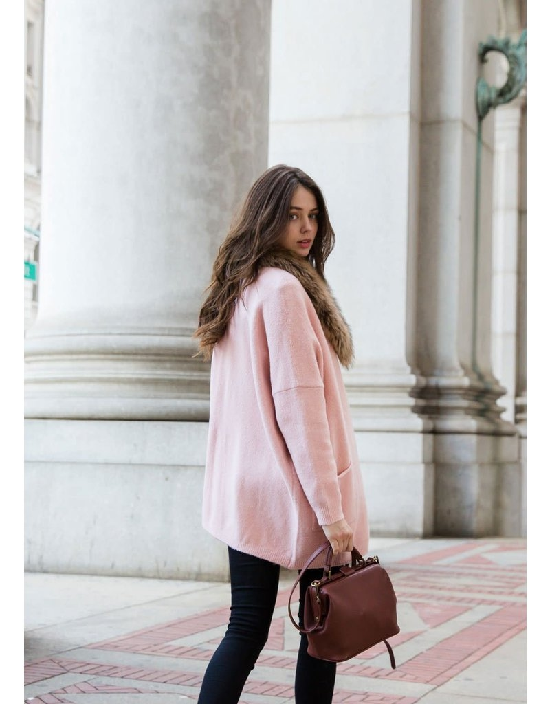 Look By M Everyday Blush Cardigan