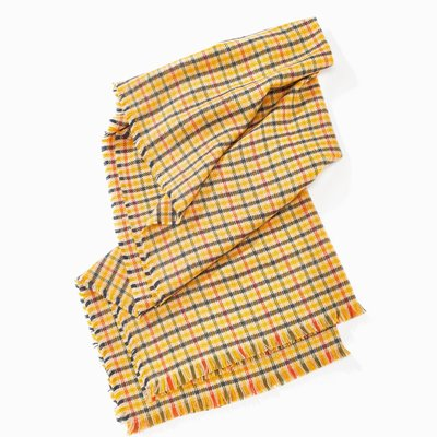 Look By M Yellow Lollipop Plaid Scarf