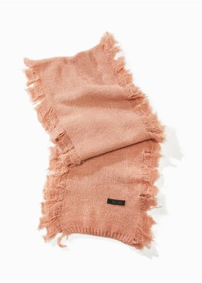 Look By M Blush Cashmere Blended Fringe Scarf