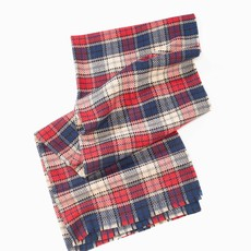 Look By M Navy Vivid Plaid Scarf