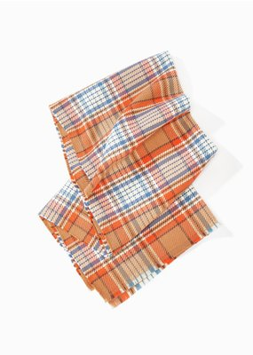 Look By M Camel Vivid Plaid Scarf