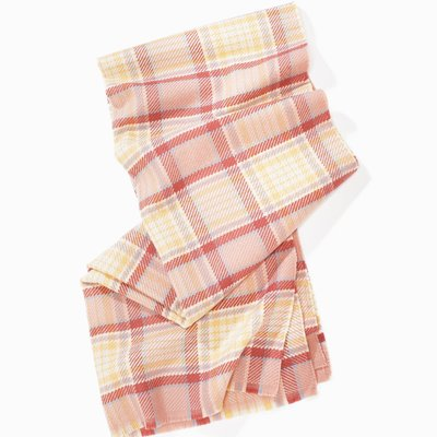 Look By M Blush Vivid Plaid Scarf