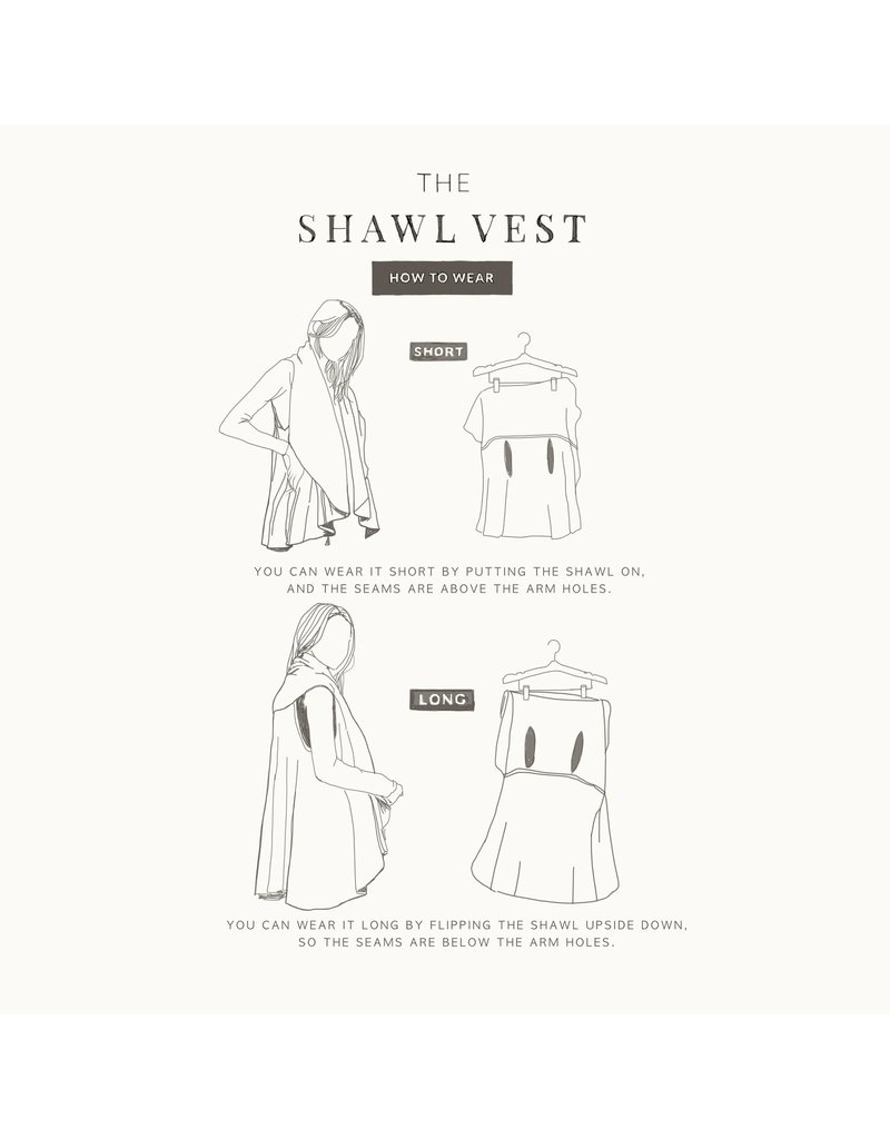 Look By M Basic Dusky Shawl Vest