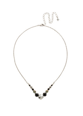 Sorrelli Deliate Round Black Onyx Crystal Necklace