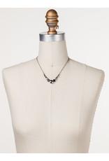 Sorrelli Deliate Round Black Onyx Crystal Necklace