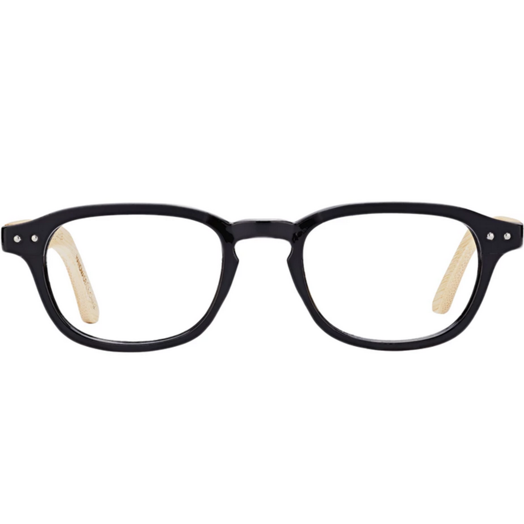 Blue Planet Berkeley Matte Black Readers +2.50