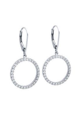 Sterling Silver CZ Eternity Circle Earrings