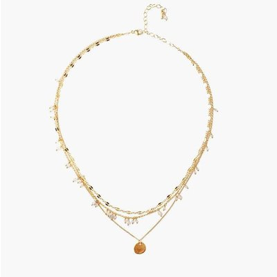 CHAN LUU Labradorite Pre-Layered Short Necklace