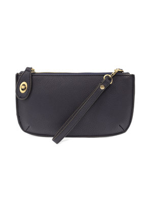 Joy Susan Navy Mini Crossbody Wristlet Clutch