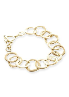 Ink + Alloy Brass Organic Circle Chain Bracelet