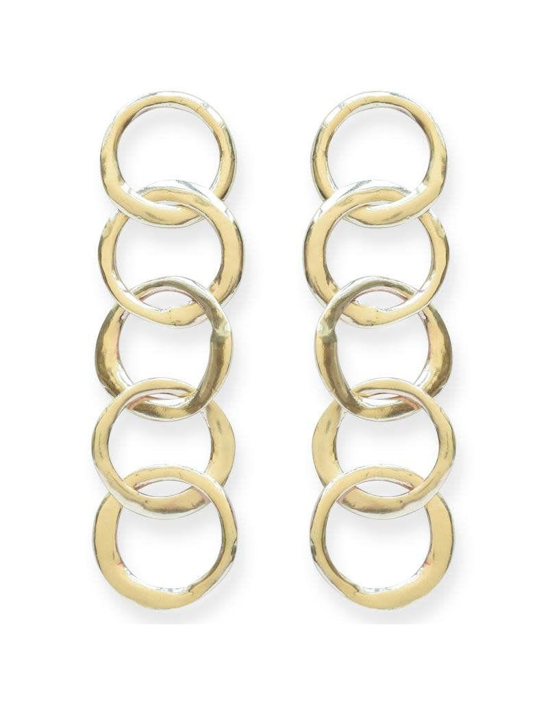 Ink + Alloy Brass Organic Circle Chain Earring