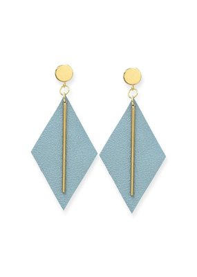 Ink + Alloy Pearl Sky Leather Diamond Earring