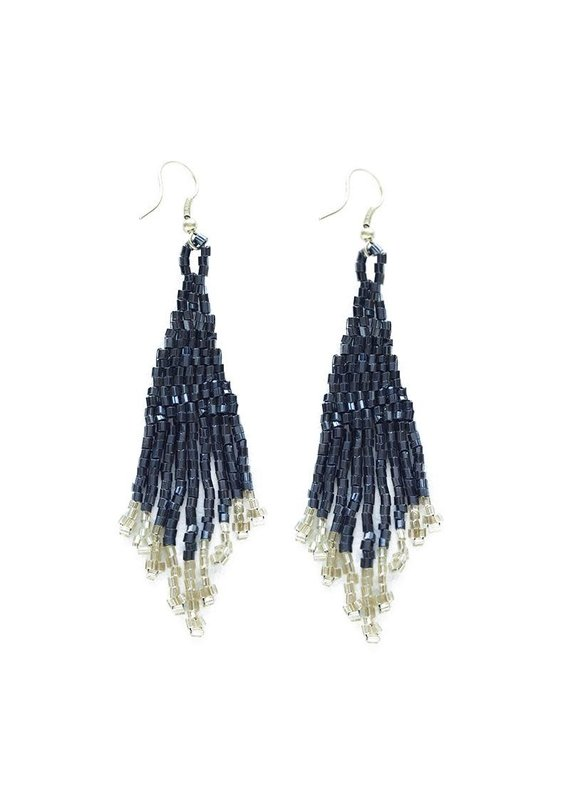 Ink + Alloy Blue & Gold Small Fringe Earring