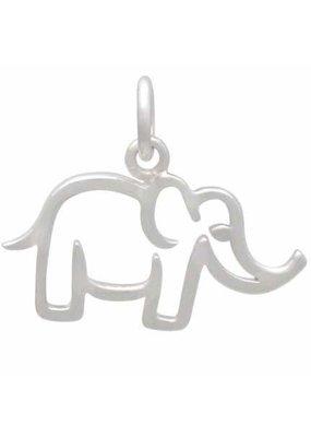 Sterling Silver Mama Elephant Charm