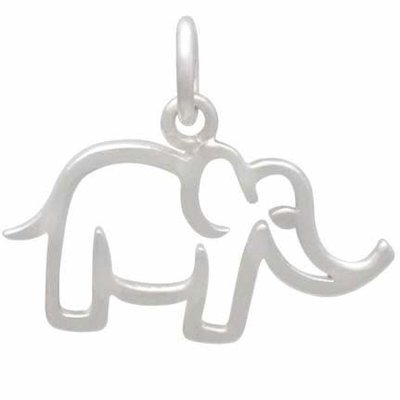 Sterling Silver Mama Elephant Charm