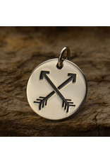 Sterling Silver Arrows Charm
