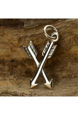 Sterling Silver Crossed Arrows Charm