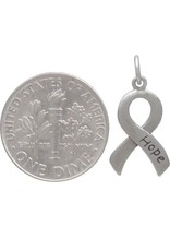Sterling Silver Cancer Ribbon Hope Charm