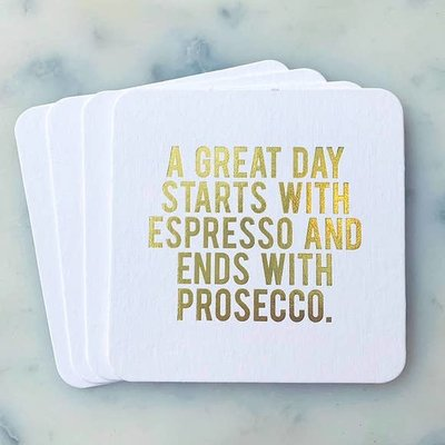 Sipping This A Great Day Starts w Espresso Coaster Pack