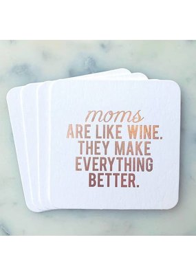 Sipping This Moms Are Like Wine Coaster Pack