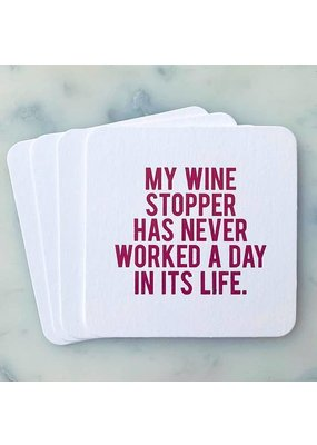 Sipping This My Wine Stopper Coaster Pack