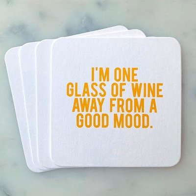Sipping This One Glass of Wine Coaster Pack