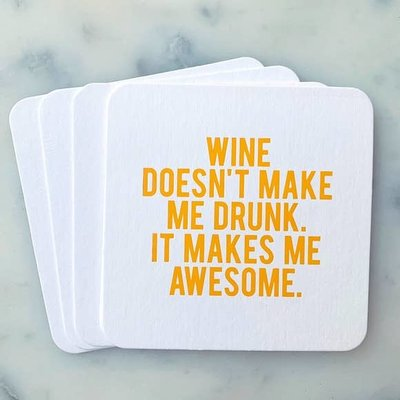 Sipping This Wine Doesn't Make Me Drunk Coaster Pack