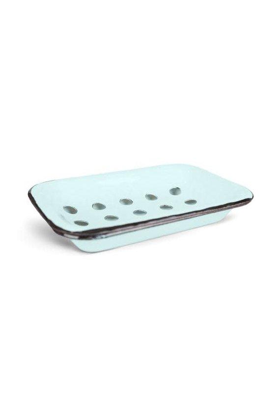FinchBerry Farmhouse Blue/Aqua Metal Soap Dish